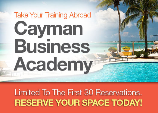 Take Your Business Training Abroad with The Cayman Business Academy!