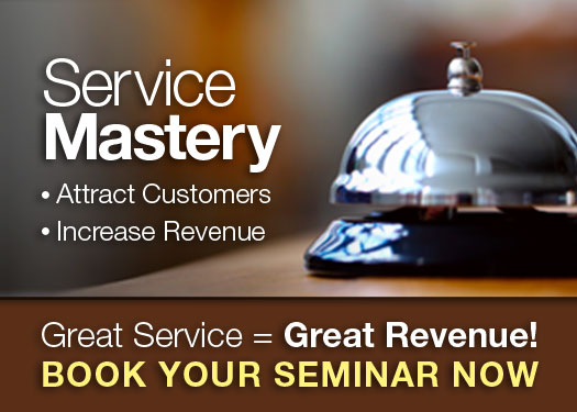 Get Service = Great Revenue! Learn More At Chuck Bauer's ServiceMastery Seminar